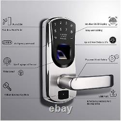 Verrouillage De Porte Intelligent Sans Clé Wejupit V8, Empreinte Digitale En Acier Inoxydable Touchscree