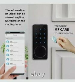 Verrouillage De Porte Wifi Smart Lock, Serrure De Porte Électronique Intelligente Avec Clé Sans Clé, Écran Tactile