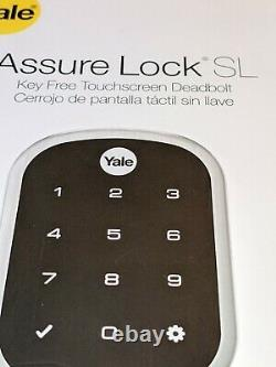 Verrouillage De Sécurité De Yale Sl Keyless Ecran Tactile Deadbolt Nickel Yrd256-nr-619