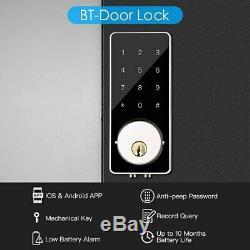 Verrouillage Sans Clé Smart Entry De Verrouillage De Porte À Pêne Dormant Numérique De Porte Électronique Bluetooth