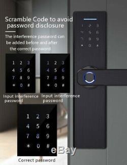 Verrouillage Sans Clef Porte D'empreinte Digitale De Verrouillage Du Clavier À Écran Tactile Smart Lock Accueil Securtiy