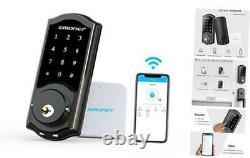 Verrouillage Sans Clef Verrouillage De Porte Avec Clavier Smart Wifi À Pêne Dormant, Électronique Numérique Bl