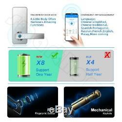 Verrouillage Sans Clef Verrouillage De Porte Intelligente Biométrique D'empreintes Digitales Poignée De Porte Avec Bluetooth