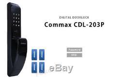 Verrouillage Sans Verrouillage Commax Push-pull Cdl-203p Numérique Intelligent Pin + Rfid Serrure Noir