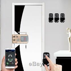 Wifi Bluetooth À Puce Porte Carte De Verrouillage Sans Clé Wifi Serrure Accueil Automatique Us A9h4