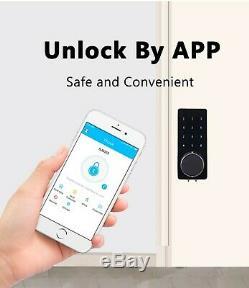 Wifi Bluetooth Serrure À Bouton-poussoir Numérique Intelligent Pêne Dormant Sans Clé Mobileapp Touch Pin
