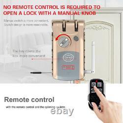 Wifi Bluetooth Smart Door Lock Télécommande Sans Clé Anti-vol Deadbolt A A3o7