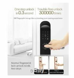 Wifi D'empreintes Digitales Intelligente De Verrouillage De Porte, Q202 Électronique Sans Clé De Porte D'entrée