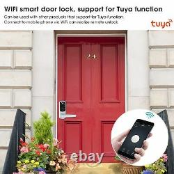 Wifi Electronic Handle Door Lock Smart Fingerprint Password Card Keys Anti-theft
