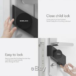 Xiaomi Noir Sherlock S2 Intelligent De Verrouillage De Porte Sans Clé De Verrouillage Accueil Installation Facile