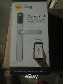 Yale Conexis L1 Intelligente De Porte De Sécurité De Verrouillage Sans Clé Chrome Poignée Bluetooth Tag