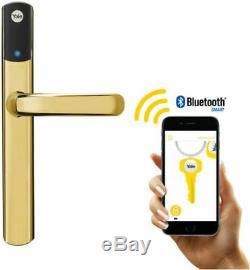 Yale Conexis L1 Intelligente De Verrouillage De Porte En Laiton Poli Sans Clé Bluetooth Poignée De Sécurité