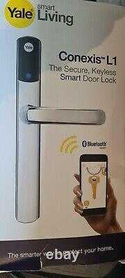 Yale Conexis L1 Keyless Smart Door Lock Chrome Avec Z Wave 2 Module
