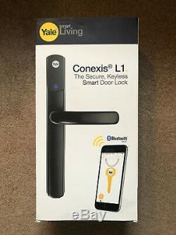 Yale Conexis L1 Sécurité Noir Poignée Intelligente De Verrouillage De Porte Sans Clé Bluetooth