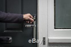 Yale Conexis L1 Smart Serrure De Porte Chrome Composite Pvc Sans Clé Sécurité Pour Smartphone