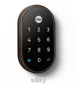 Yale Intelligent De Verrouillage De Porte Sans Clé À Pêne Dormant Clavier Biométrique Verrouillage Automatique Bluetooth Wi-fi