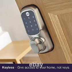 Yale Keyless Connected Prêt Smart Door Lock Touch Écran Clavier Sans Fil Argent