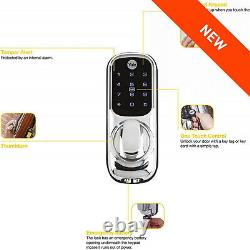 Yale Keyless Connected Touch Screen Smart Door Lock Keypad Wireless Silver