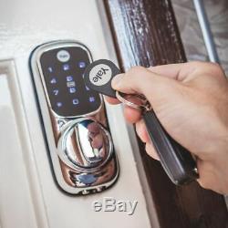 Yale Sans Clé Connecté À Écran Tactile Intelligent De Verrouillage De Porte Brass Rfid Code Pin