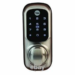 Yale Sans Clé Connecté À Écran Tactile Intelligent De Verrouillage De Porte Sn Rfid Code Pin