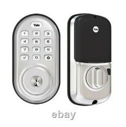 Yale Yrd216 Smart Lock Deadbolt Satin Touch Pad Keyless Zwave Alexa + Plus